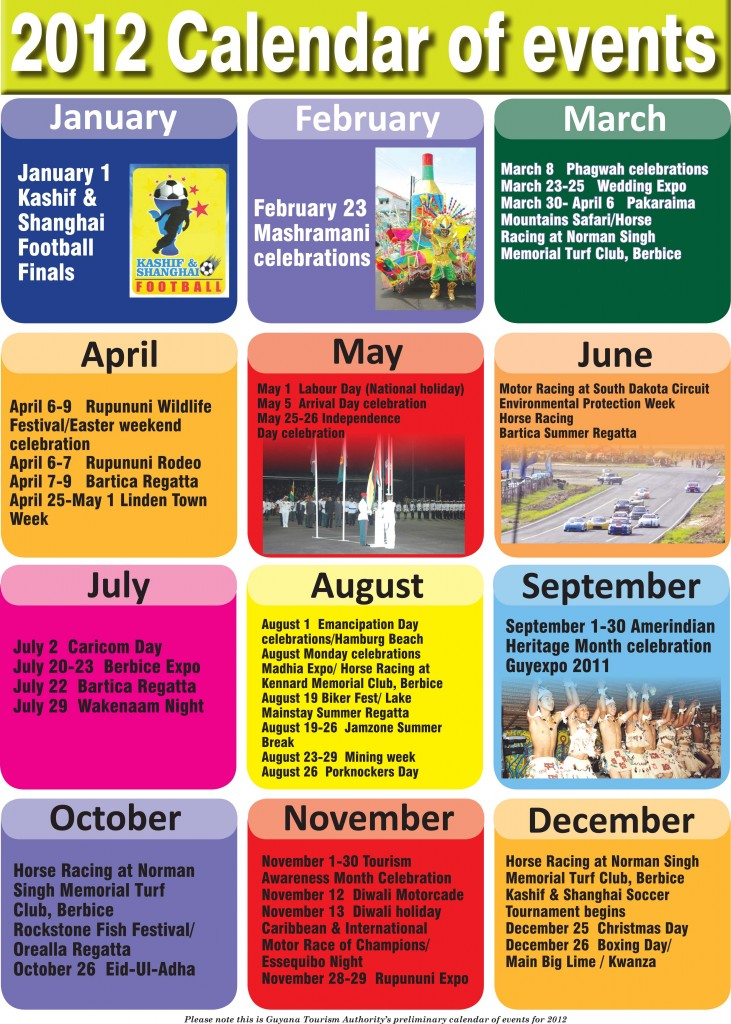 Calendar Of Events : Calendar of events
