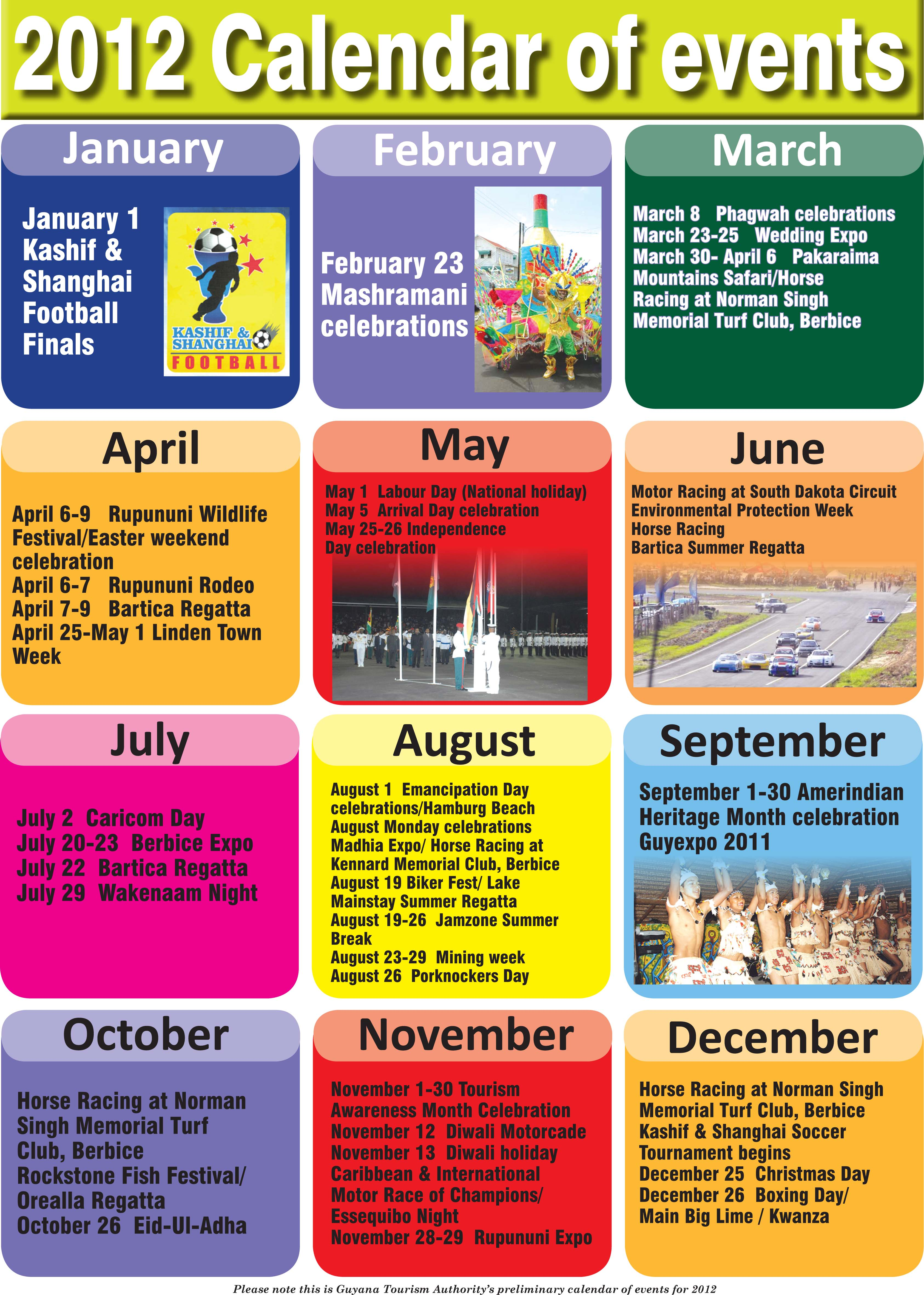 Calendar Events : Calendar of events