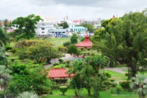 Aerial view of the Promenade Gardens