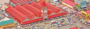 Spectacular shot of Stabroek Market
