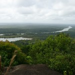 View from Awarmie mountain, Rupununi river