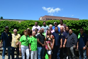 Members of the Rotary Club of Jamaica (Queens, NY) and Queens Centre for Progress pose for a group photo during their annual Bar-B-Que and fun-day held recently.