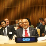 President Donald Ramotar was joined by Finance Minister, Dr Ashni Singh; Foreign Affairs Minister Carolyn Rodrigues-Birkett and other officials at the United Nations