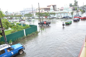 A view of Camp and Quamina streets in Georgetown on Thursday