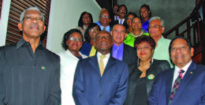 Cabinet Members soon after the swearing in ceremony at the Ministry of the Presidency