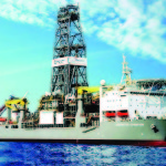 The Deepwater Champion exploration ship which is currently digging the well