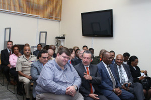 A section of the high-profile gathering at the opening of the DEA office in Guyana at the US Embassy on Wednesday