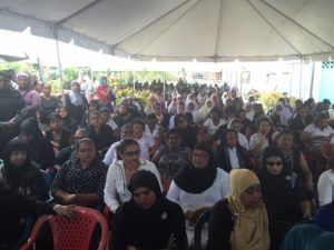 Thousands turned out to pay their last respects at the rice farmers' funeral on Wednesday