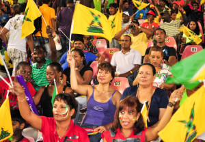 Guyana Amazon Warriors fans at a previous CPL match