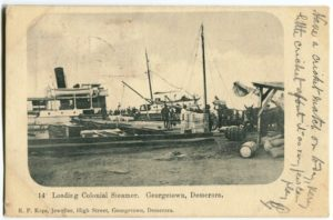 Loading steamer at Georgetown docks (ND)