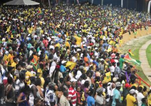 Guyanese fans turn Guyana National Stadium into a truly big party