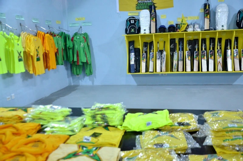 Amazon warrior's paraphernalia on sale at the new office on Camp and Quamina Streets