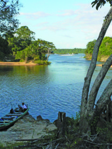 Picturesque view of the Essequibo river where the Falls is located (Photo by jcdl. On Flickr)