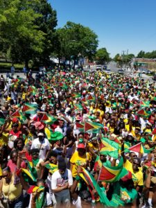 Several Guyanese and persons of other nationalities converged at Church and Utica Avenues in Brooklyn, New York, to celebrate Guyana's 50th Independence Anniversary