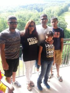 Zaalika Rasool is pictured with her husband, two sons, and daughter (Photo taken from NY  Daily News)