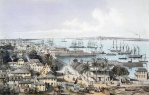 Lithograph-of-Georgetown British Guiana by William Parrott after a drawing by Edward-Angelo Goodall
