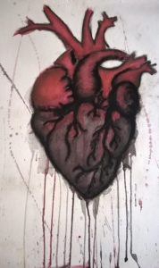 Intricate painting of a heart