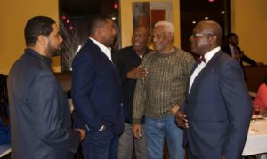 (L-R) James Archibald, Dave Cameron, Charles Simpson, John Melbourne (93.5 FM/formerly of WLIB) and Gerry Hopkin.