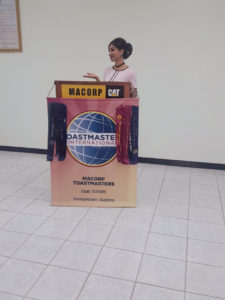 Speaking at a past Toastmasters' event