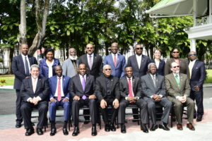 The official photograph of the Heads of Government and Delegations, who are participating in the Twenty-Eighth Inter-Sessional Meeting of the Conference of the Heads of Government of the Caribbean Community (CARICOM) in Georgetown, Guyana.