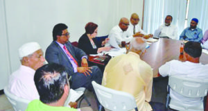 Opposition Leader Bharrat Jagdeo and members of the PPP engaged members of the religious community during last week's consultations