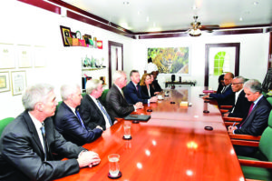 President David Granger meeting with ExxonMobil executives at State House on Wednesday