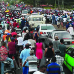 Sugar workers, families unite in massive protest  against closure of Rose Hall Estate